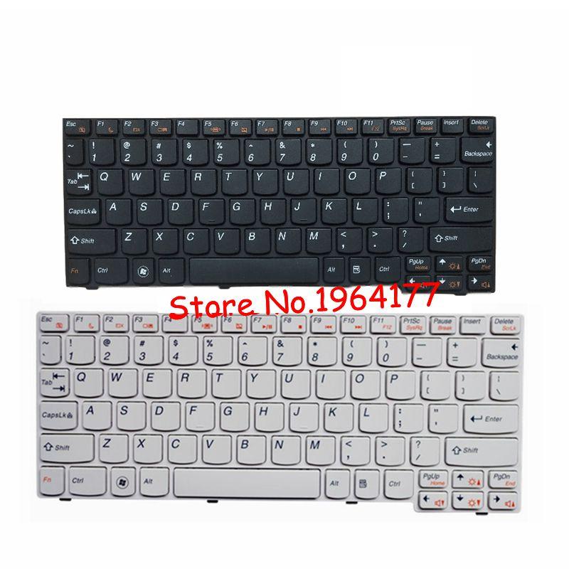 US Laptop Keyboard For Lenovo U160 U165 S200 S205 Laptop White BLACK Keyboard