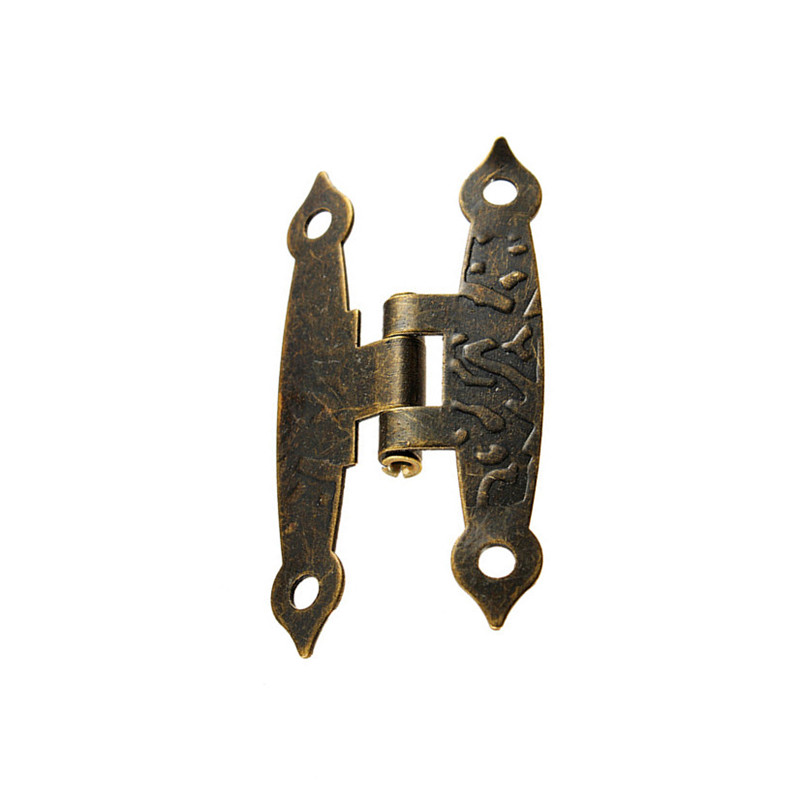 8pcs Wooden Box Hinge Antique H-Type Hinge Metal Hinge 4-Hole Flat Door Hinge Link Tablets for Jewelry Boxes Furniture Fittings