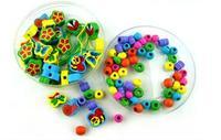 Darmowa wysyłka Drewniane Biżuteria Dokonywanie Narzędzia nauka i edukacja Dla Dzieci baby zabawki, struny koraliki serii