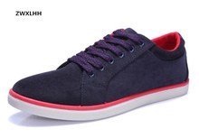 Autumn new men's suede canvas shoes, non-slip rubber at the end of men with vulcanized shoes flat shoes(China)