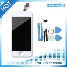 2016 venta caliente reemplazo de la pantalla lcd para iphone 5s 5 pantalla Con Digitalizador Montaje de la Pantalla Táctil de Alta Calidad En Color Negro blanco