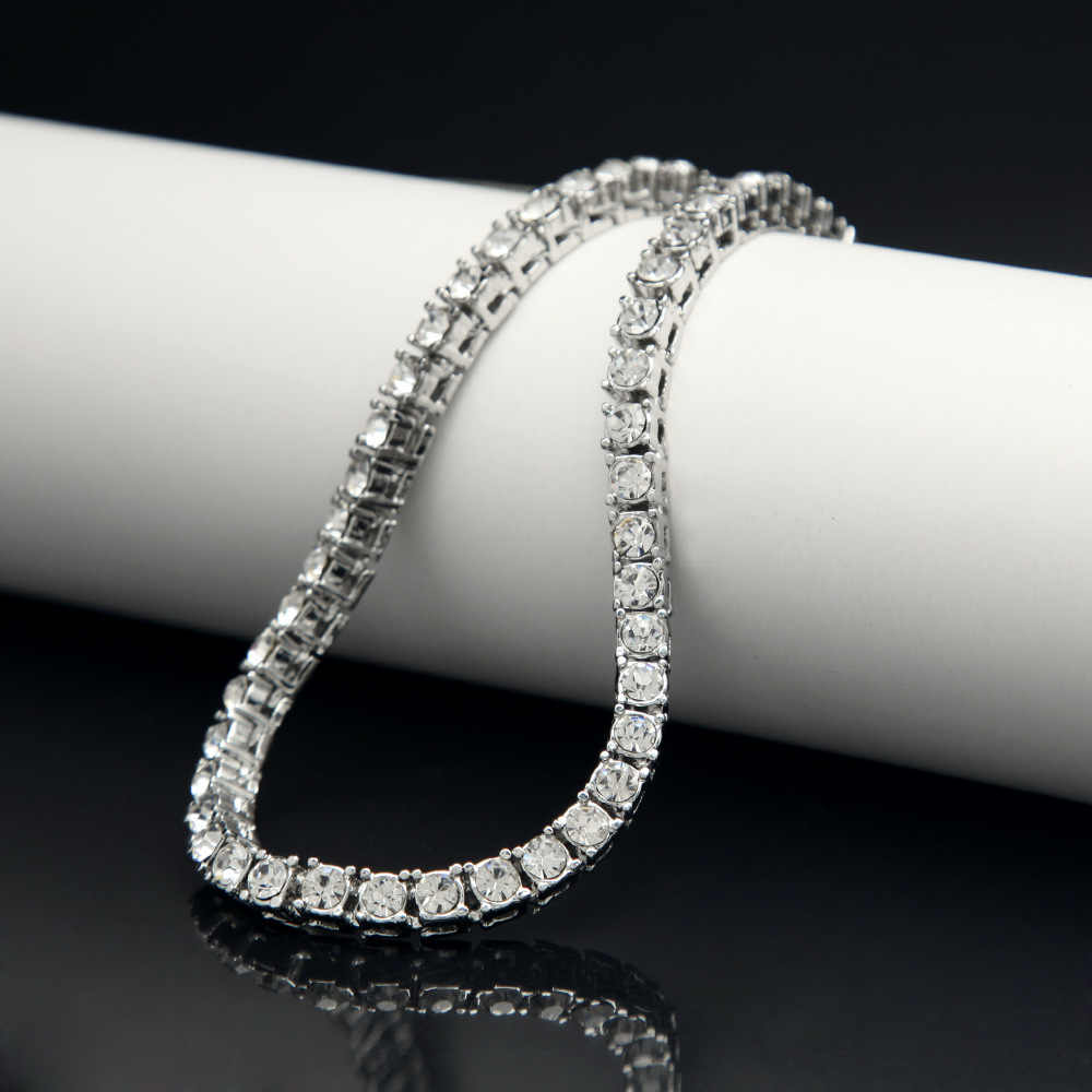 ... Hip hop Bling Iced Out Cubic Zirconia Bracelet Tennis Chain Bracelets  Women Men 1 Row CZ ... a27ff6326