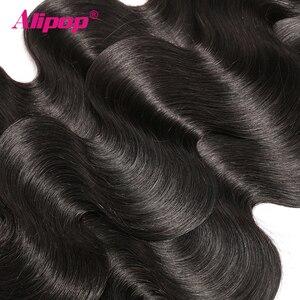 Image 4 - Alipop ผมบราซิล Body Wave ด้านหน้าลูกไม้ที่มีการรวมกลุ่ม Remy Human Hair ที่มีหน้าผาก 10 28 นิ้วชุดปิด