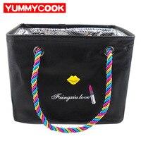 Portable PU Girl Tote Bag Clothes Cosmetic Women Handbags Shopping Wash Toiletry Travel Luggage Storage Organizer