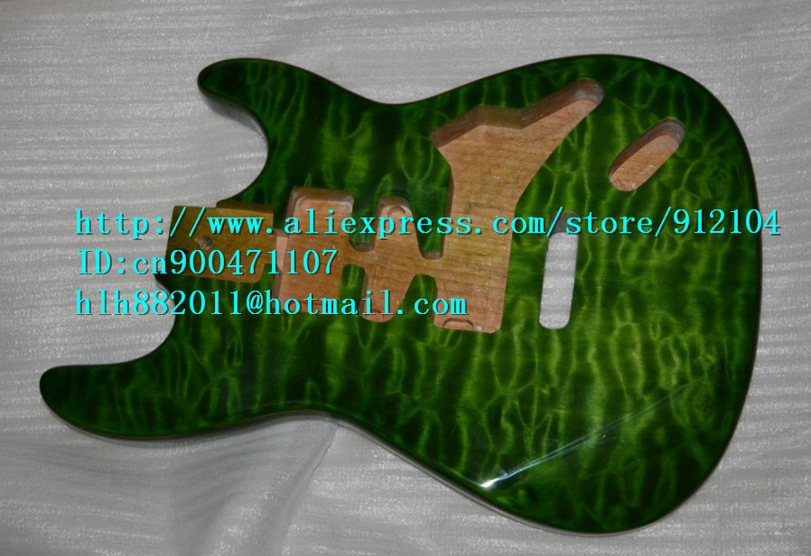 free shipping retail new stick flower basswood electric guitar body F-1445 free shipping retail new electric bass guitar body in natural color foam box