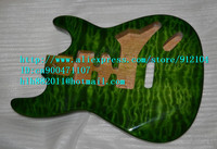 free shipping retail new stick flower basswood electric guitar body F 1445