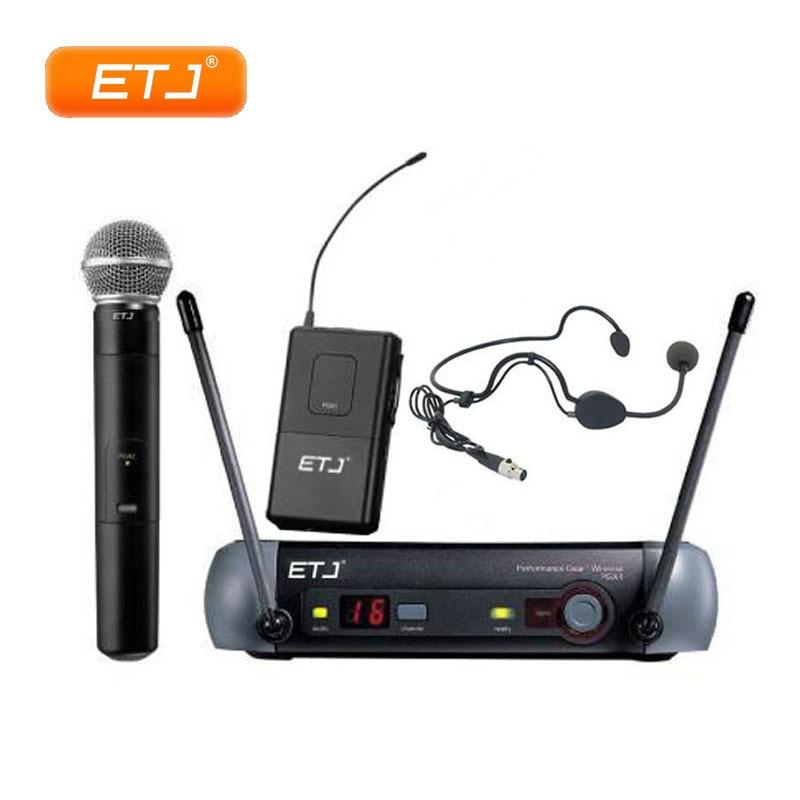 UHF Wireless Microphone PGX24 KTV Wireless System BETA58 Karaoke PGX4 PGX2 Handheld Black Headset Mic With Beltpack Top Quality караоке handheld ktv ws 1816b black