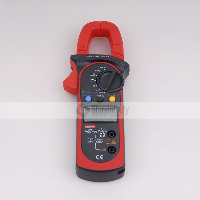 Uni-T UT204 Auto-Ranging AC DC Digital Handheld Clamp Meter Multimeter Free shipping free shipping multimeter 830l handheld digital universal table with multi meter multimeter