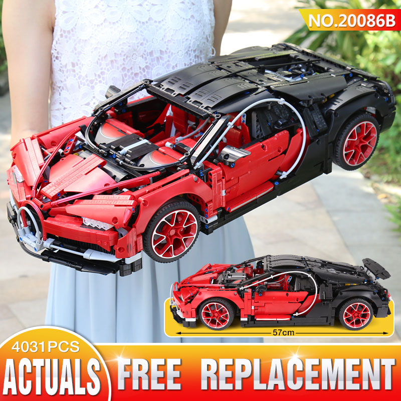 DHL Lepin Technic 20086B Red Technic legoings 42083 Chiron Racing Car Building Blocks Bricks Kids Toy Model Christmas Gift lepin bugatti 20086b technic figures chiron racing car sets compatible legoing 42083 model building kits blocks bricks boy toys
