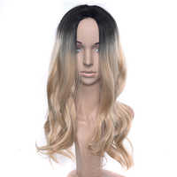 Soowee Black Gray Purple Ombre Hair Synthetic Hair Long Cosplay Wig Party Hair Accessories Wavy Wigs Hairpiece for Women