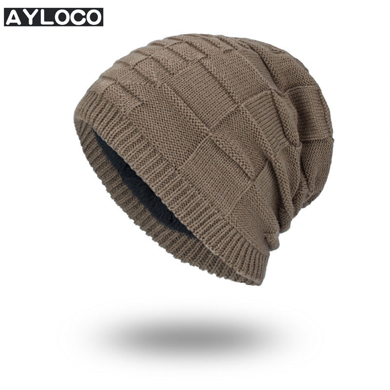 Brand Beanies Knit Men's Winter Hat Caps Thick Skullies Bonnet Hats For Men Women Beanie male Warm gorros Knitted Hat 2pcs beanies knit men s winter hat caps skullies bonnet homme winter hats for men women beanie warm knitted hat gorros mujer