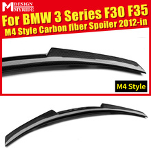 F30 Rear Spoiler Tail AEM4 Style For F35 320i 325i 328i 328d 330i 335i Carbon Fiber Rear Trunk Spoiler Wing car styling 2012-in стоимость