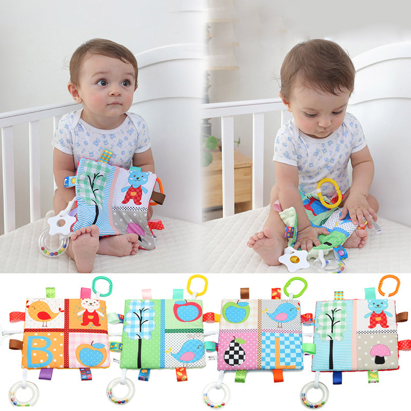 Newborn Baby Mobiles Toy Soft Animal Appease Towel Grasping Soft Comforting Doll Infant Toys Baby Hand Towel Educate Rattle