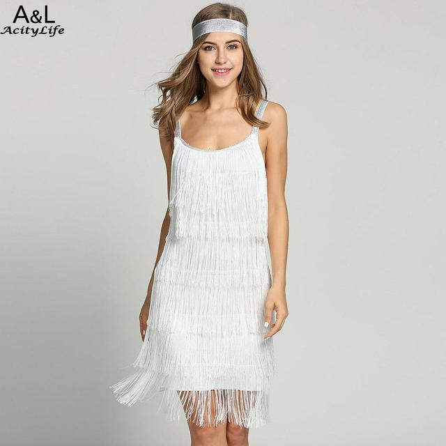 6c5875a3c6712 2018 Straps Summer Gatsby Women'S Size Clothes Glam Women Costume Long  Clothing Party Tassels Flapper Beach Dresses Fringe Dress-in Dresses from  ...