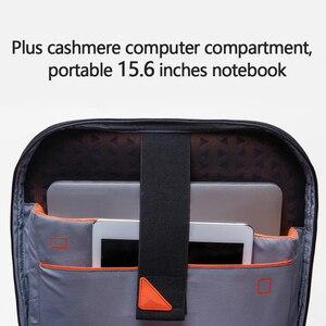 Image 2 - أصيلة شاومي المهوس حقيبة الظهر مقاوم للماء 15.6 بوصة محمول سستة تصميم حقائب الأعمال السفر باستخدام Teenager الرجال النساء حقيبة