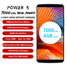 "Get more info on the LEAGOO Power 5 Smartphone 5.99"" FHD+ 18:9 RAM 6GB ROM 64GB Android 8.1 MT6763 Octa Core 7000mah Dual Rear Cams 4G Mobile Phone"