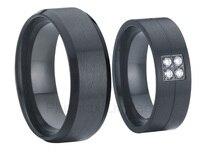 Китай ювелирный завод пара обувь для мужчин и женщин черный обручальное titanium юбилейные кольца