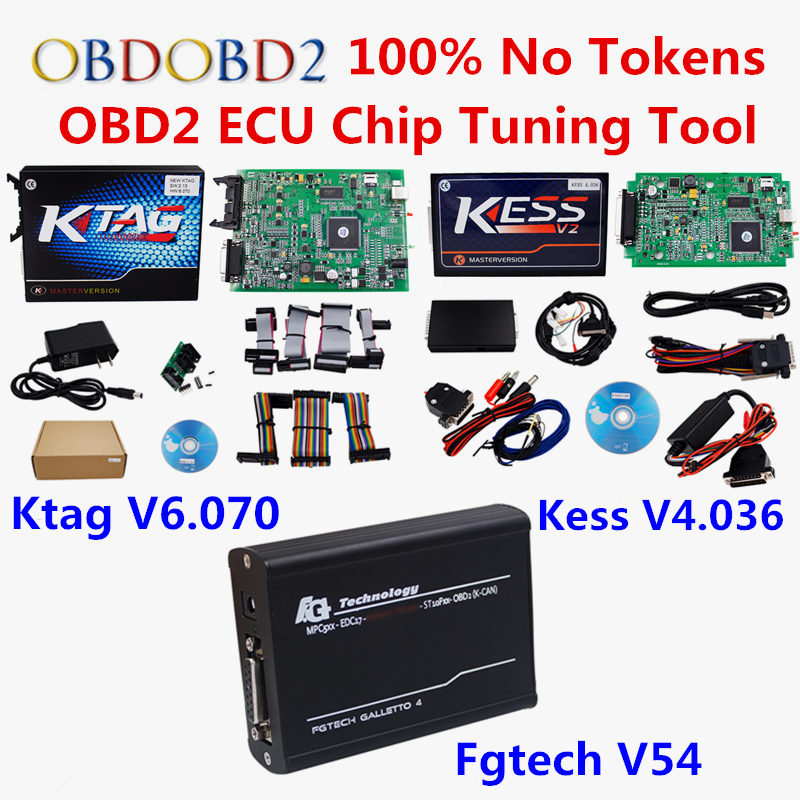 купить Full Set ECU Chip Tuning Tool Online EU Red Kess V2 V5.017/V4.036 Unlimited KTAG V7.020/V6.070 FGTECH Galletto 4 V54 Car Truck по цене 11559.58 рублей