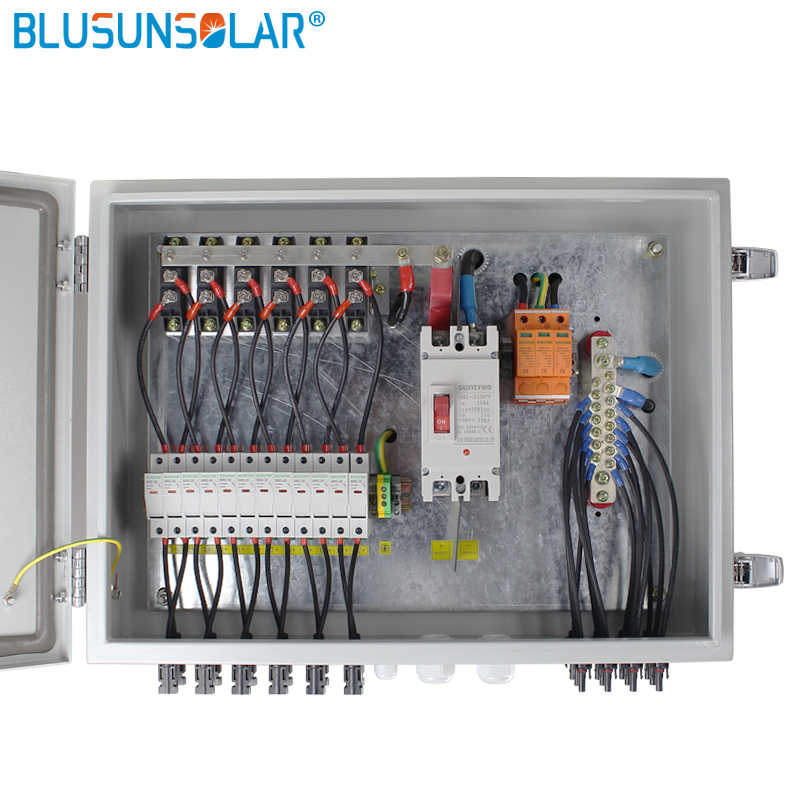 12 String input  to 1 string output for off grid solar energy system Photovoltaic Array Solar PV Combiner Box