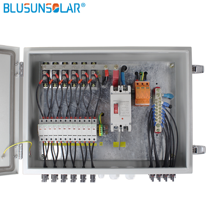 Entrada para a saída de 1 cordas de 12 Cordas para fora da rede do sistema de energia solar Fotovoltaica Caixa Combinador Solar PV Array