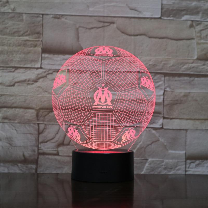 DROIT AU ABER Nacht Licht 3D LED Tisch Lampe Nachtlicht 7 Farbwechsel Luminaria Touch Lichter Fußball Trophy Geschenke Drop schiff