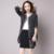 2016 ropa de otoño nueva llegada añadir fertilizantes para aumentar el tamaño de las mujeres de moda suéter cardigan largo abrigo más tamaño
