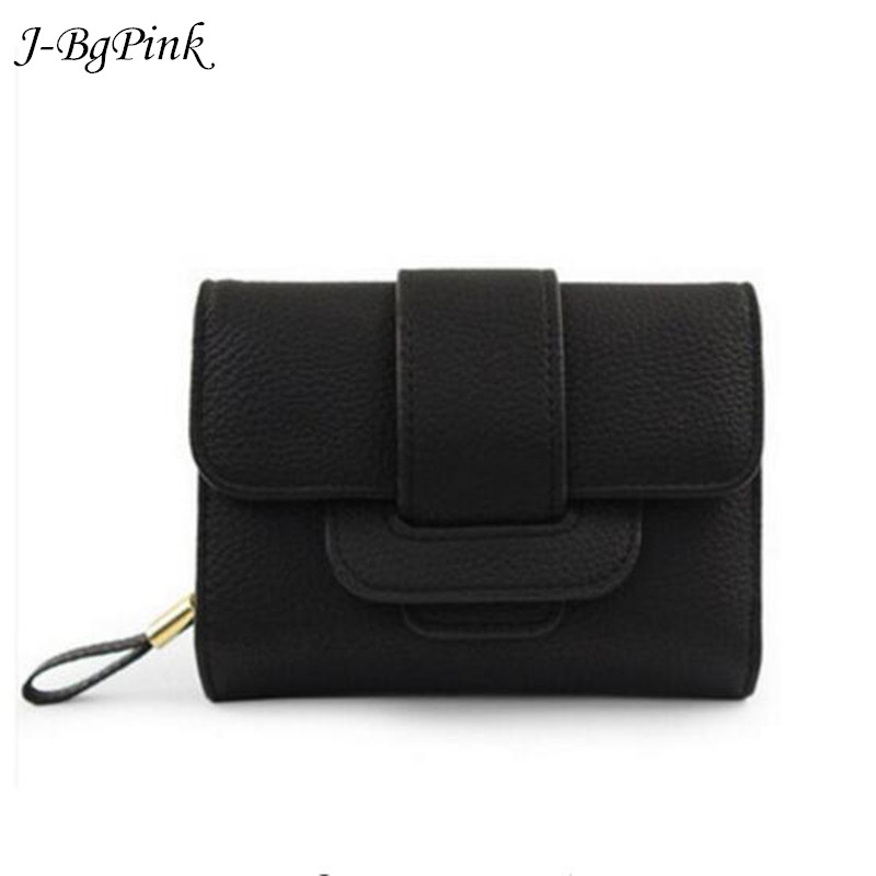 2018 New Luxury Soft Leather Women Hasp Wallet Fashion Tri-Folds Clutch For Girls Coin Purse Card Holders Female Pink Money Bag qweek wallet female geometric envelope clutch wallet for women pu leather hasp fashion wallet for phone money bags coin purse