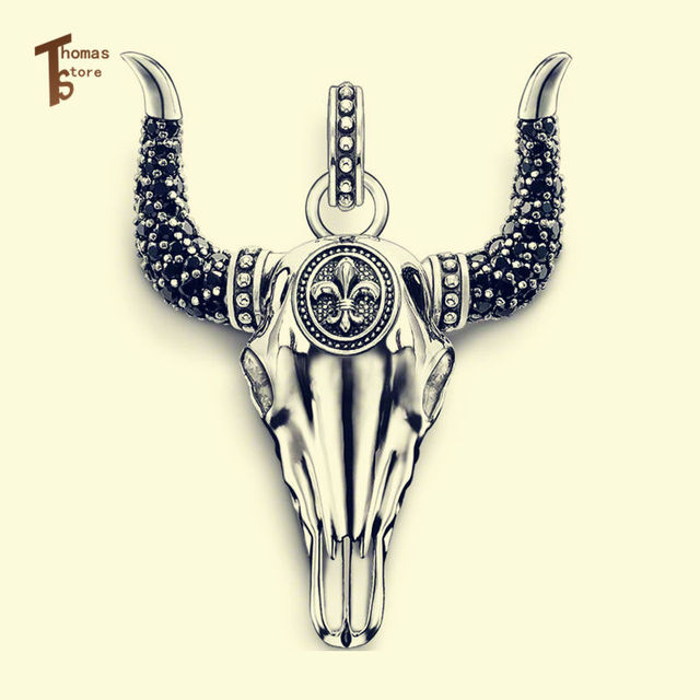 Bull Skull Pendant Thomas Style Glam And Soul Fashion Lovers' Jewerly For Women 2015 Ts Gift In silver-plated