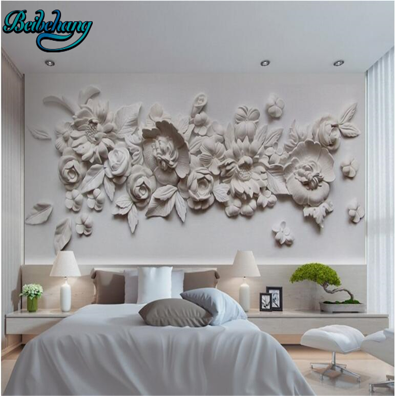 Beibehang 3d Exquisite Oil Painting Style European Gypsum