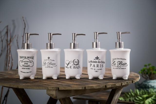 1pcs Beautiful Lotion Bottle Luxury Soap Dispenser Bathroom Products Shower Gel Ceramic Liquid Dispensers