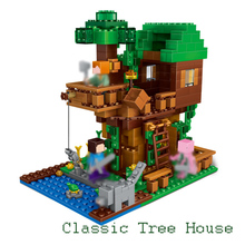 My world 406pcs Classic Tree House LegoINGly Minecraft Model Figures Building Blocks Bricks Kids Toys For