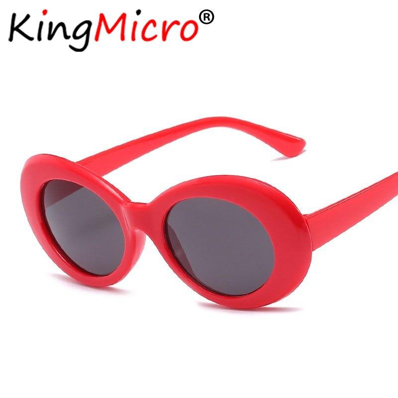 f1fe724182f71 Kurt Cobain Oval Óculos de Óculos de Proteção óculos de Sol Óculos óculos  de Sol Óculos Dos Homens Das Mulheres Designer De Marca Vintage Vermelho
