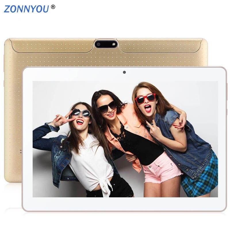 New 10.1 Inch 3G  Tablet Pc Octa Core Android 7.0 4 GB RAM 64GB ROM Dual SIM Tarjetas 800*1280 IPS GPS Tablet PC