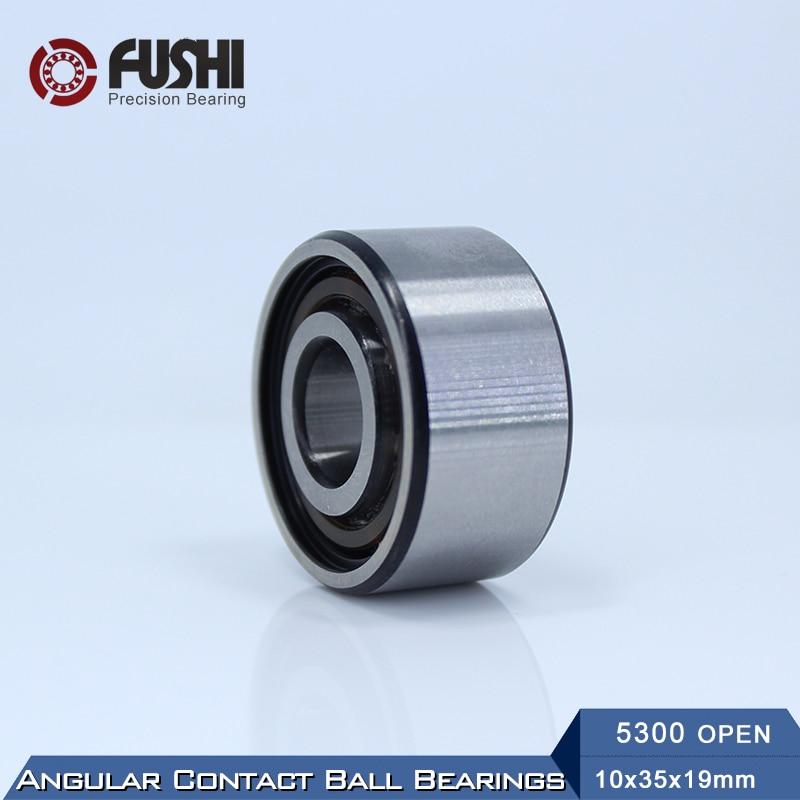 5300 OPEN Bearing 10 x 35 x 19 mm ( 1 PC ) Axial Double Row Angular Contact  5300 3300  3056300 Ball Bearings