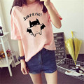 New Fashion 2017 Women's Summer T-Shirt Female Loose Casual Printed Short Sleeve Cotton T Shirt Camistas Mujer Plus Size M-2XL