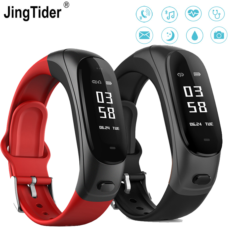 JingTider V08 Bluetooth Earphone Smart Band 2 in 1 Earband Smart Bracelet Wristbands Heart Rate Blood Pressure Monitor 0.96 inch newest v08 wireless earphone smart band 2 in 1 bluetooth headset wristband heart rate blood pressure monitor smart bracelet