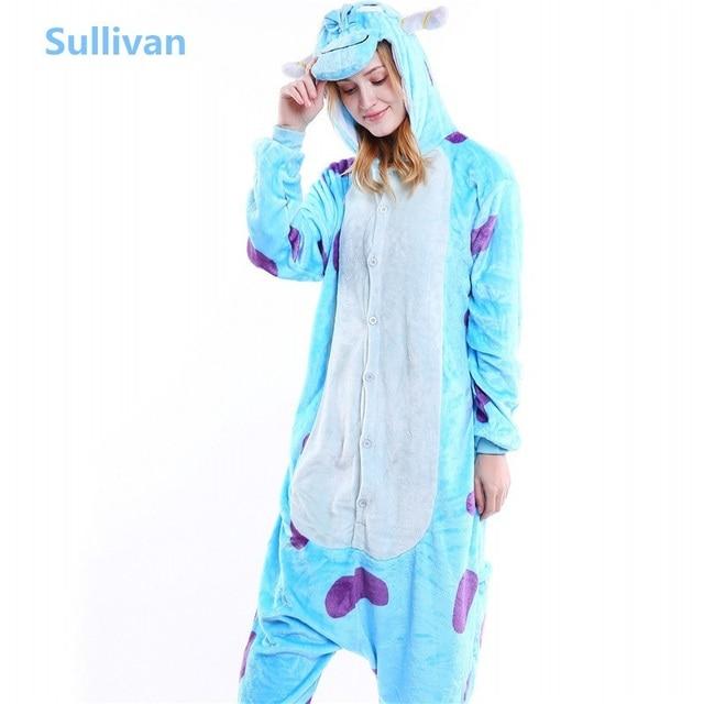 d02db843a440 Winter Adult Unisex Animals Sleep Pajamas Flannel Monsters Inc. Sulley  Pajama Sets Women Popular Cosplay Pyjama Oneises B-5800