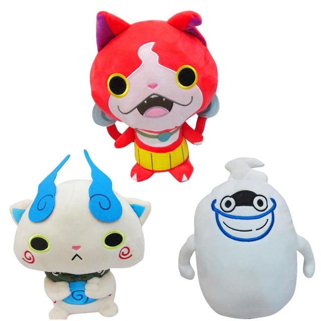 3pcs lot 11 anime cartoon yo kai watch cat jibanyan komasan whisper