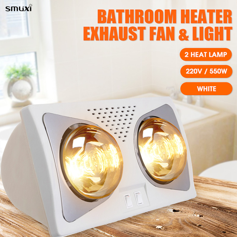 220v 550w Bathroom Heat Lamp Led Ceiling Lighting Warm 380x200x220mm Wall Mounted Heating Light 2 Lights For Winter Shower In Pendant From