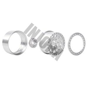 Image 5 - INJORA 4Pcs 알루미늄 합금 1.9 비드 록 휠 림 1/10 RC 크롤러 축 SCX10 SCX10 II 90046 AXI03007 Traxxas TRX4 D90