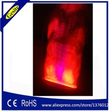 Free shipping 2 meter red and white Fake fire flame lighting Stage Special Effect LED lamp silk big flame machine