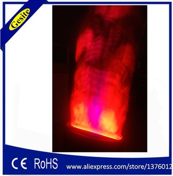 цена на Free shipping 2 meter red and white Fake fire flame lighting Stage Special Effect LED lamp silk big flame machine