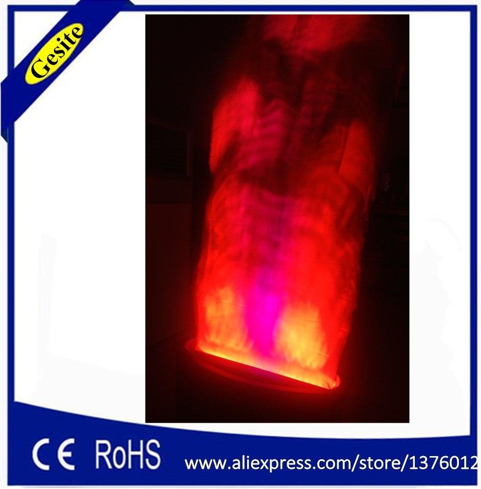 Livraison gratuite 2 mètres rouge et blanc faux feu flamme éclairage scène effet spécial lampe à LED soie grande flamme machine