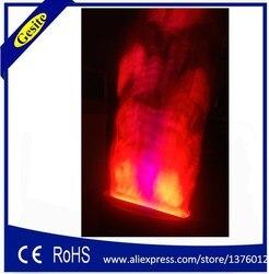Versandkostenfrei 2 Meter roten und weißen gefälschte feuer flamme beleuchtung Stufe besondere wirkung led-lampe seide große flamme maschine