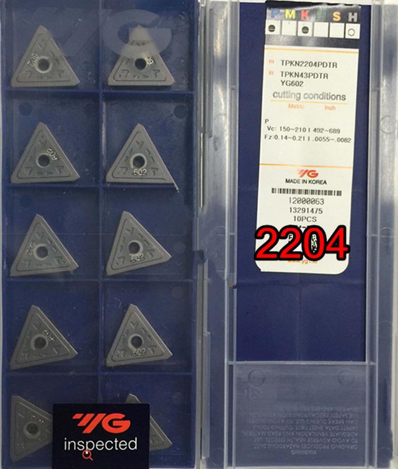 TPKN2204PDTR TPKR2204PDTR YG602 10pcs 50pcs 100 Made in Korea YG Carbide blade Processing stainless steel steel