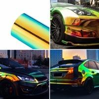 135CM*10M Car Stickers Color Change Chrome Vinyl Film Laser Plating Car Wrap Sticker Decal Air Release Film