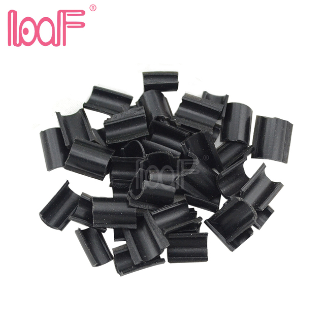 Loof 100pcs Hair Glue Nail Tip Keratin U Shaped Fusion Chips For
