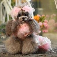 OnnPnnQ Lovely Pink Lace Dog Dress Handmade Luxury Princess Wedding Dress Dog Clothes For Chiahuahua Pet Tutu Skirt Puppy Poodle