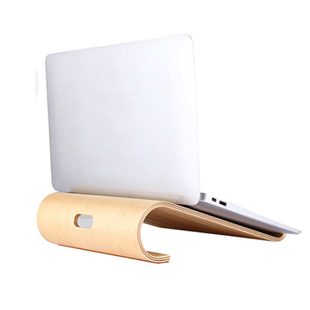 Wooden Notebook Holder Hollow Cooling Fashion Computer Stand Portable Laptop Cooling Bracket For Macbook Air Pro IPad Tablet