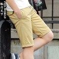 2016 New brand mens shorts print casual Men's shorts fashion cotton shorts homme  shorts khaki white green
